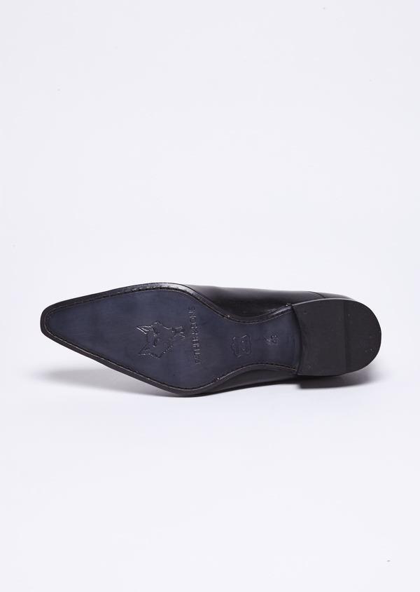 Richelieus en cuir lisse noir - Father and Sons 9065
