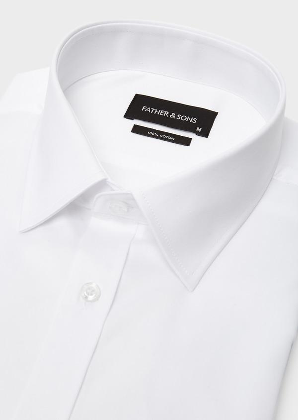 Chemise habillée Regular en coton sergé uni blanc - Father and Sons 8598