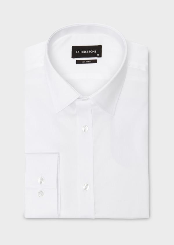 Chemise habillée Regular en coton sergé uni blanc - Father and Sons 8596