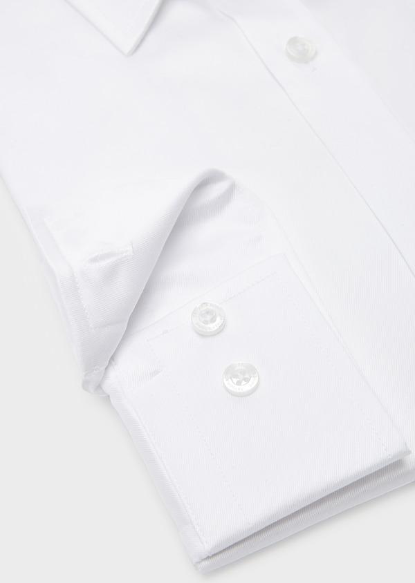 Chemise habillée Regular en coton sergé uni blanc - Father and Sons 8599