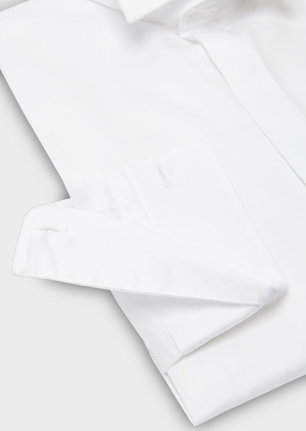 Chemise habillée Regular en satin uni blanc col cassé - Father and Sons 8606