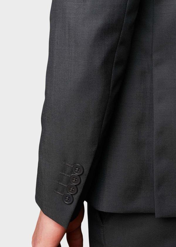 Costume 2 pièces Regular en laine Vitale Barberis Canonico unie gris foncé - Father and Sons 8675