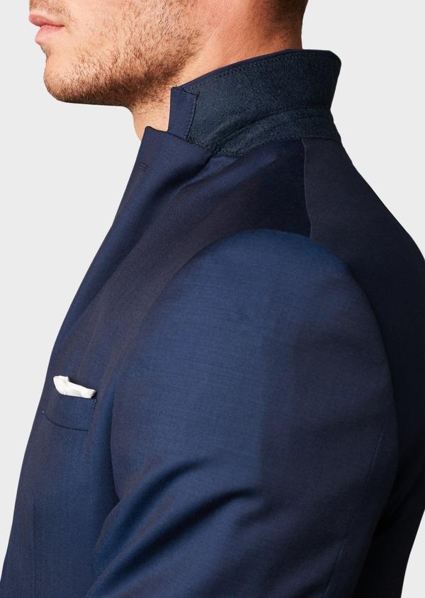 Costume 2 pièces Regular en laine Vitale Barberis Canonico unie bleu indigo - Father and Sons 8683