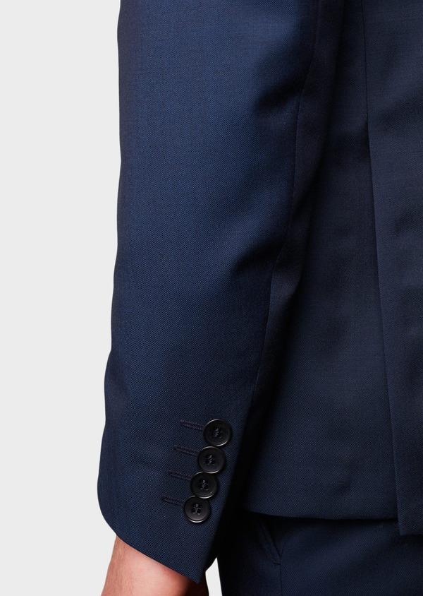 Costume 2 pièces Regular en laine Vitale Barberis Canonico unie bleu indigo - Father and Sons 8684