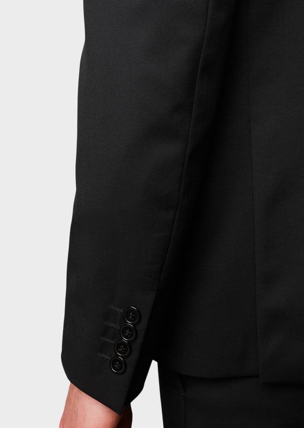 Costume 2 pièces Regular en laine Vitale Barberis Canonico unie noire - Father and Sons 8666