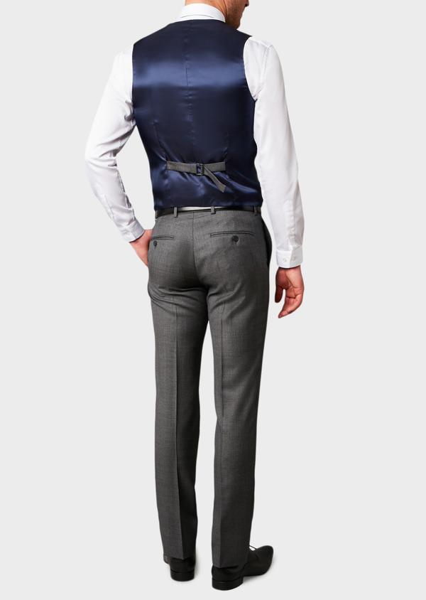 Gilet de costume en laine Vitale Barberis Canonico gris Prince de Galles - Father and Sons 8750