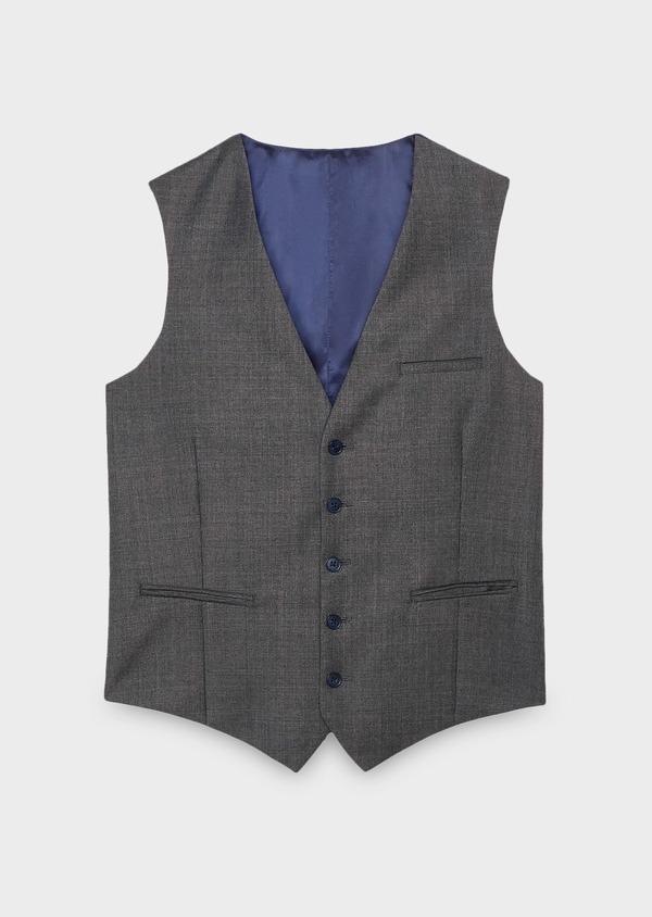 Gilet de costume en laine Vitale Barberis Canonico gris Prince de Galles - Father and Sons 8747