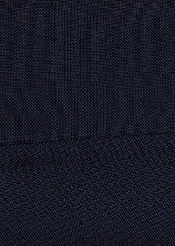 Gilet de costume en laine Vitale Barberis Canonico unie bleu indigo - Father and Sons 8740