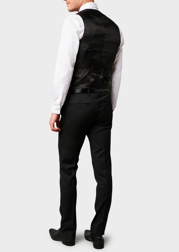 Gilet de costume en laine Vitale Barberis Canonico unie noire - Father and Sons 8726