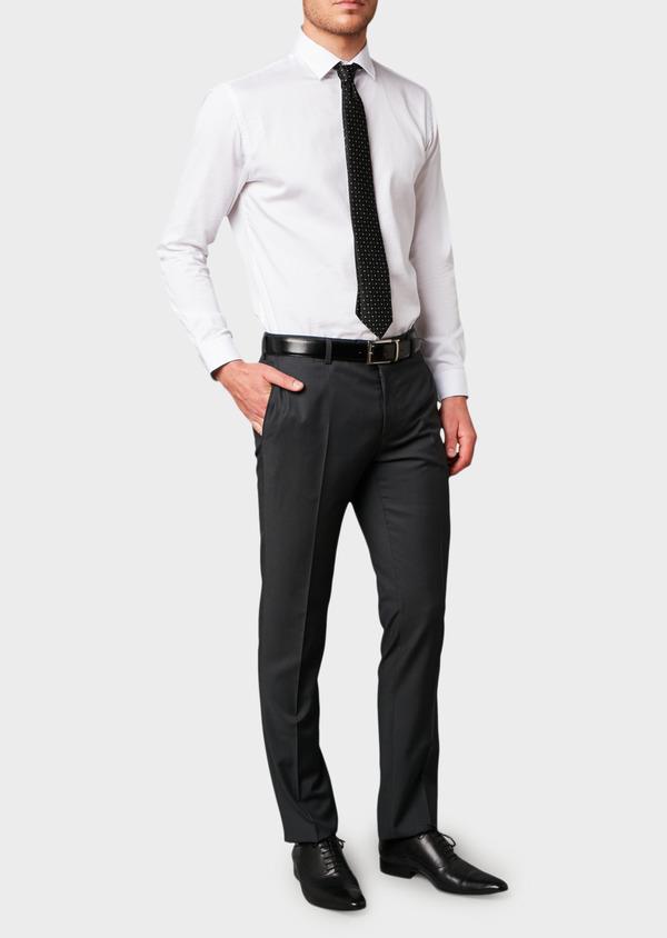 Pantalon de costume Regular en laine Vitale Barberis Canonico unie gris anthracite - Father and Sons 8811