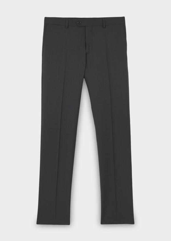 Pantalon de costume Regular en laine Vitale Barberis Canonico unie gris anthracite - Father and Sons 8809