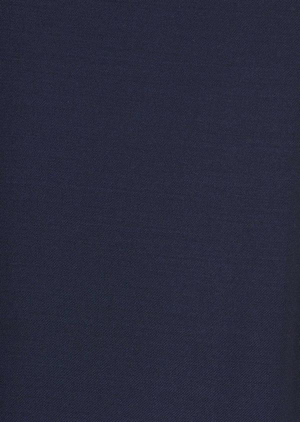 Pantalon de costume Regular en laine Vitale Barberis Canonico unie bleu indigo - Father and Sons 8816