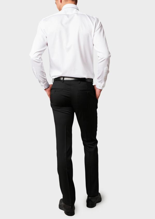 Pantalon de costume Regular en laine Vitale Barberis Canonico unie noire - Father and Sons 8806
