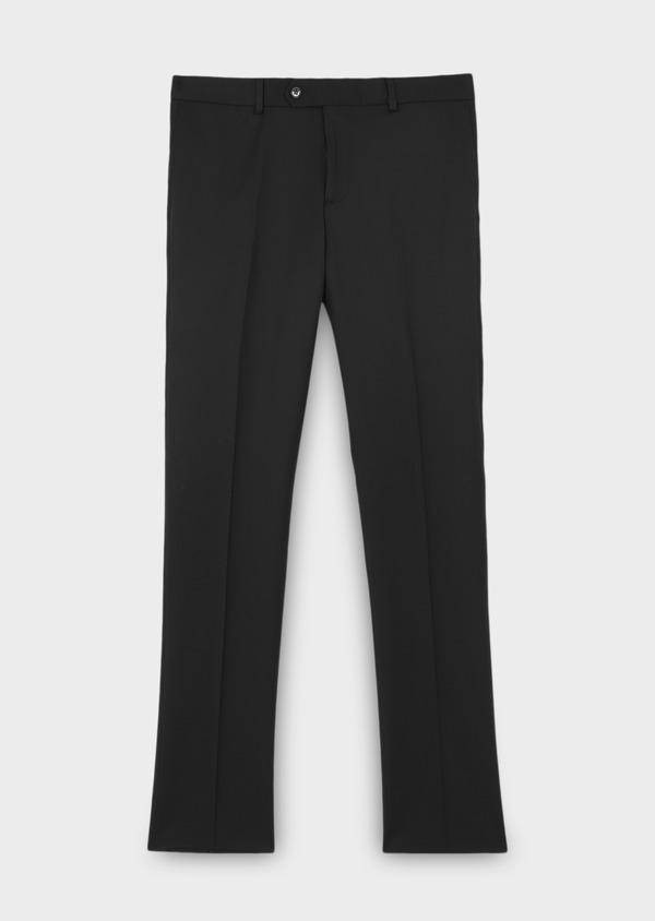Pantalon de costume Regular en laine Vitale Barberis Canonico unie noire - Father and Sons 8803
