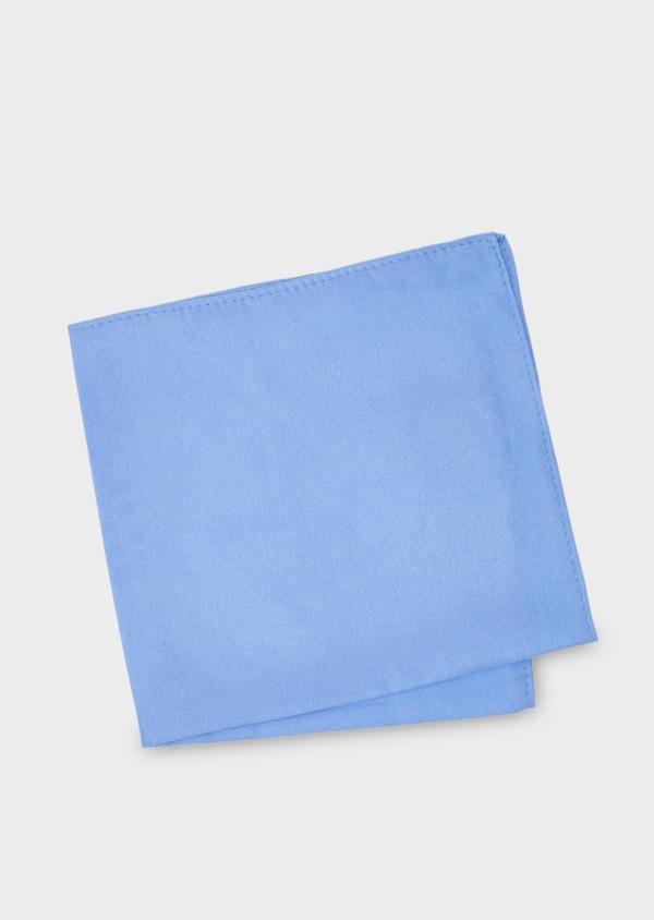 Pochette en soie unie bleu clair - Father and Sons 8861