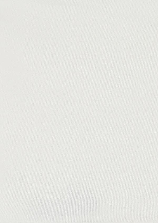 Pochette en soie unie blanche - Father and Sons 8822