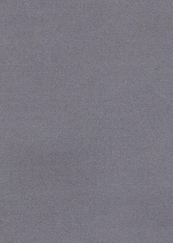 Pochette en soie unie grise - Father and Sons 8850
