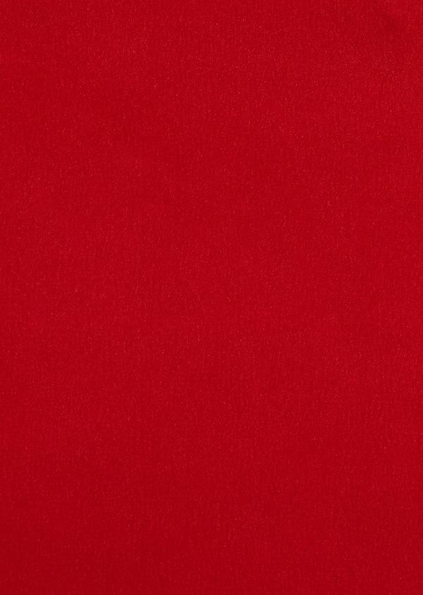 Pochette en soie unie rouge - Father and Sons 8842