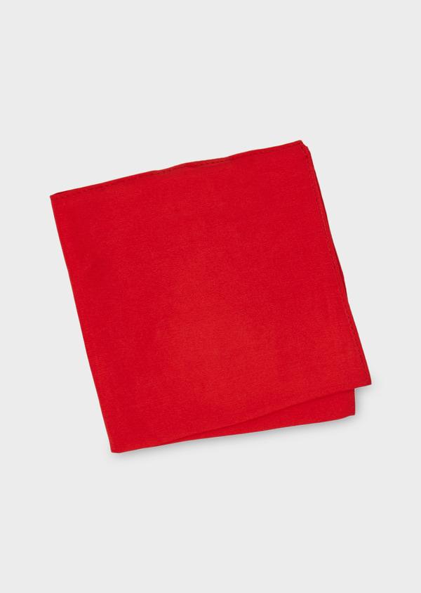 Pochette en soie unie rouge - Father and Sons 8841