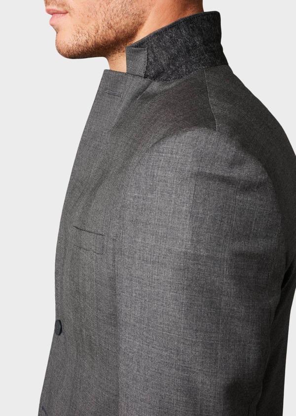 Veste de costume Regular en laine Vitale Barberis Canonico gris Prince de Galles - Father and Sons 8692