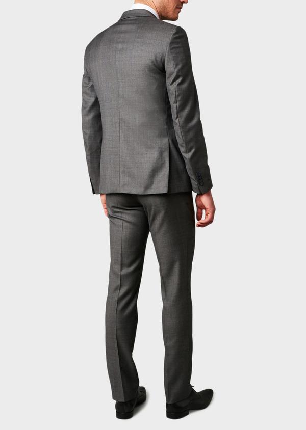Veste de costume Regular en laine Vitale Barberis Canonico gris Prince de Galles - Father and Sons 8691