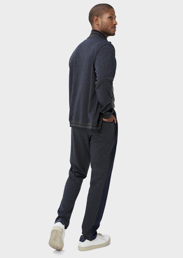 Pantalon jogging en coton mélangé uni bleu - Father and Sons 42300