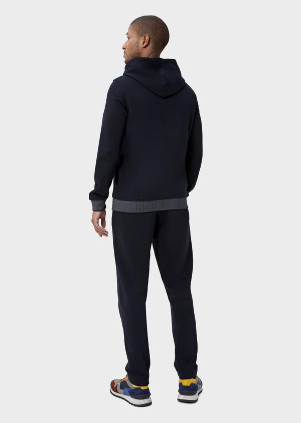 Pantalon jogging en coton uni bleu marine - Father and Sons 42296