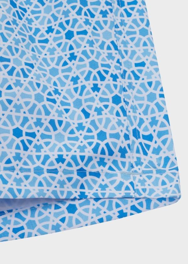 Maillot de bain bleu ciel à motif fantaisie - Father and Sons 34322
