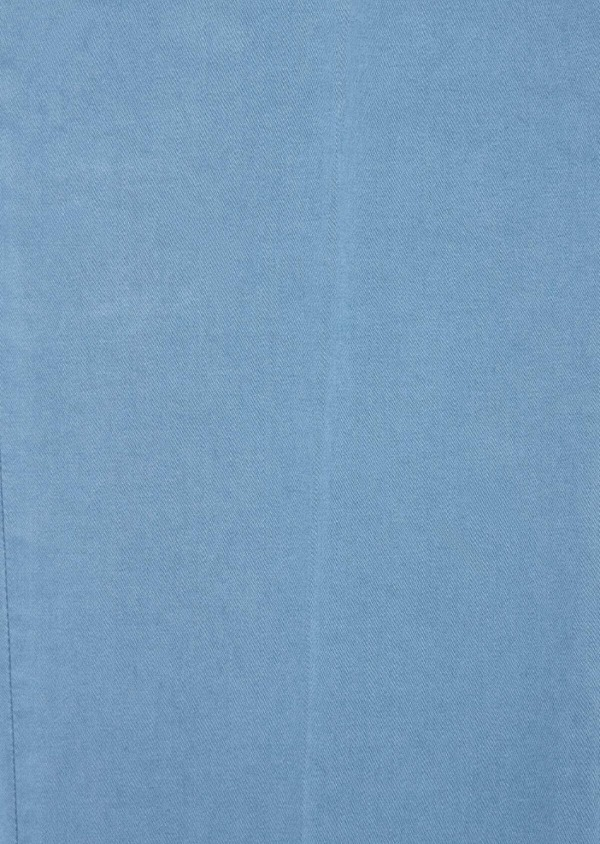 Chino slack skinny en coton stretch uni chambray - Father and Sons 37347