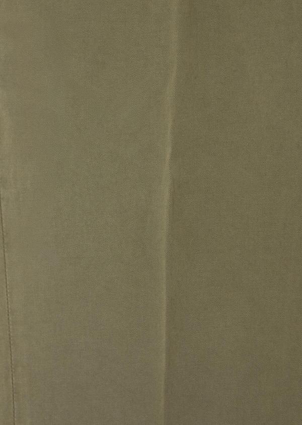 Chino slack skinny en coton stretch uni vert kaki - Father and Sons 37351