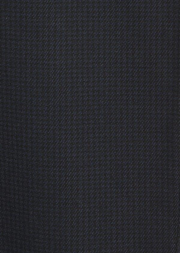 Chino slack skinny en coton stretch bleu marine à motif fantaisie - Father and Sons 42185
