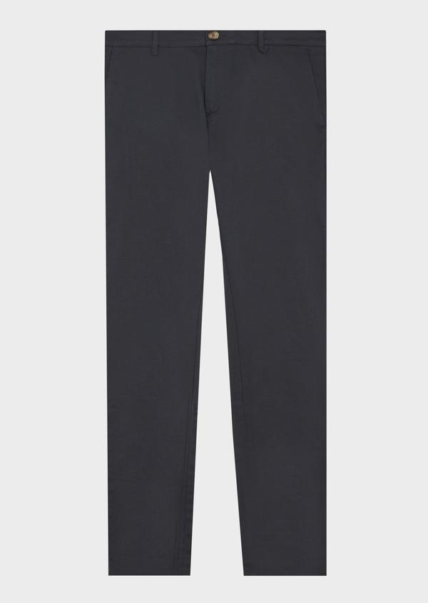 Chino slack skinny en coton stretch bleu marine à motif fantaisie - Father and Sons 42184