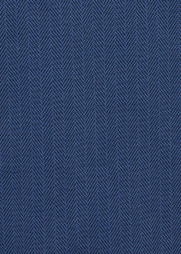 Chino slack skinny 7/8 en coton stretch uni bleu - Father and Sons 42167