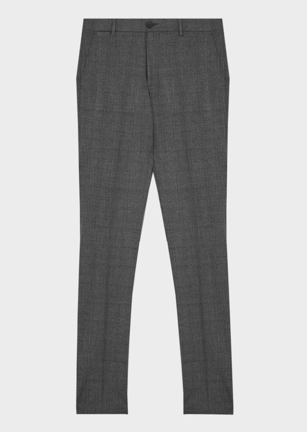 Pantalon coordonnable slim marron Prince de Galles - Father and Sons 42168