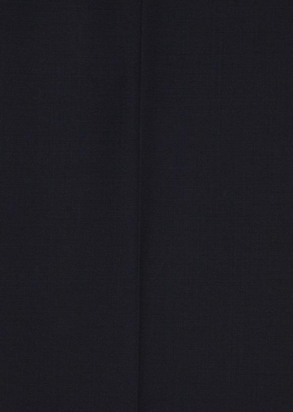 Pantalon voyage coordonnable Slim en laine bi-stretch unie bleu marine - Father and Sons 42453