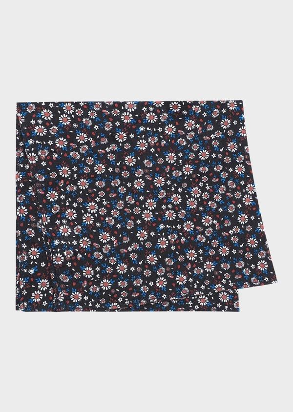 Pochette en coton bleu marine à motif fleuri - Father and Sons 31811