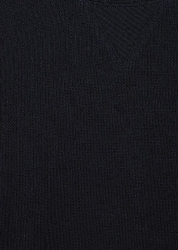 Sweat en coton col rond uni bleu marine - Father and Sons 42283