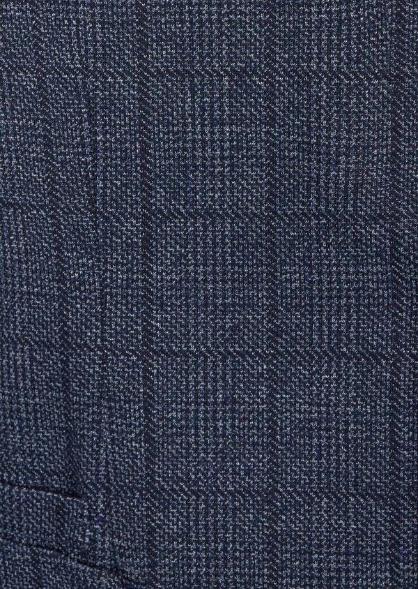 Veste coordonnable Regular en jersey bleu Prince de Galles - Father and Sons 42485