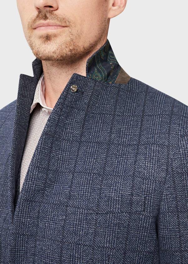 Veste coordonnable Regular en jersey bleu Prince de Galles - Father and Sons 42482