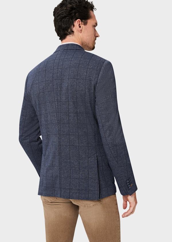 Veste coordonnable Regular en jersey bleu Prince de Galles - Father and Sons 42481