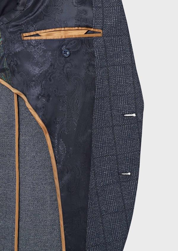 Veste coordonnable Regular en jersey bleu Prince de Galles - Father and Sons 42484