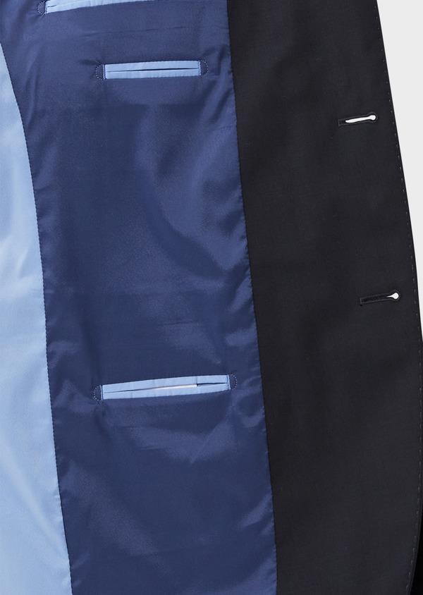 Veste de costume voyage Regular en laine bi-stretch unie bleu marine - Father and Sons 42446