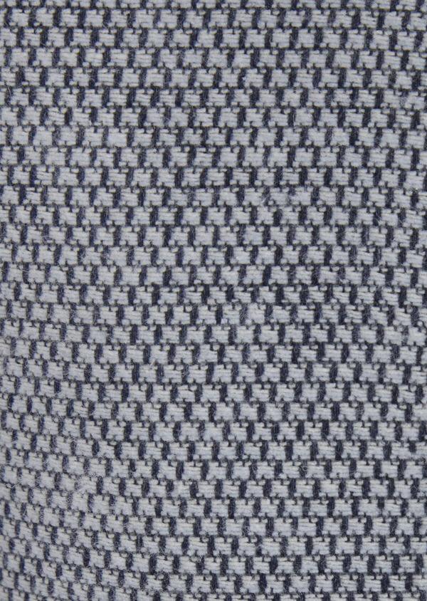 Veste casual Slim en laine mélangée grise à motif fantaisie - Father and Sons 42437