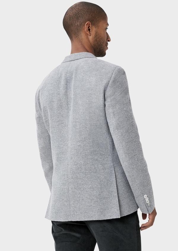 Veste casual Slim en laine mélangée grise à motif fantaisie - Father and Sons 42433