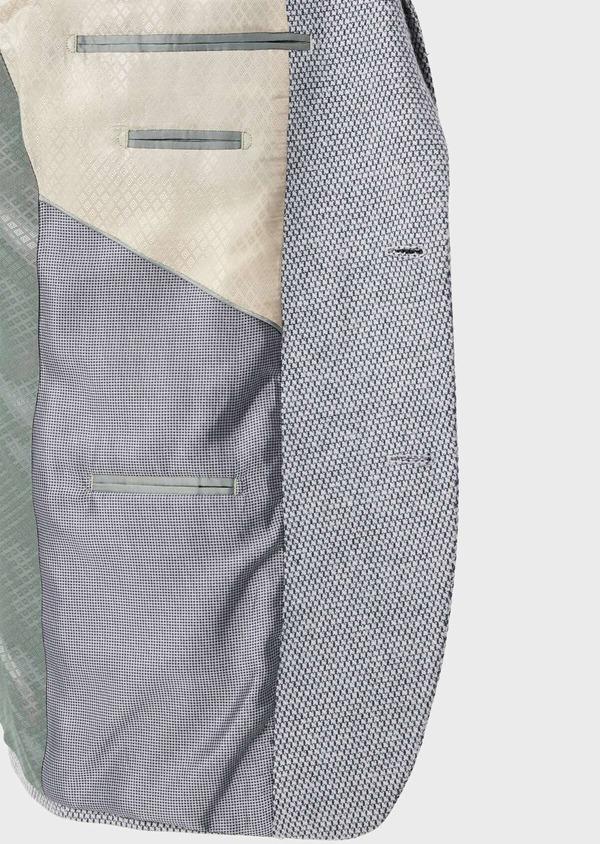 Veste casual Slim en laine mélangée grise à motif fantaisie - Father and Sons 42436