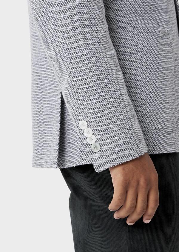 Veste casual Slim en laine mélangée grise à motif fantaisie - Father and Sons 42435