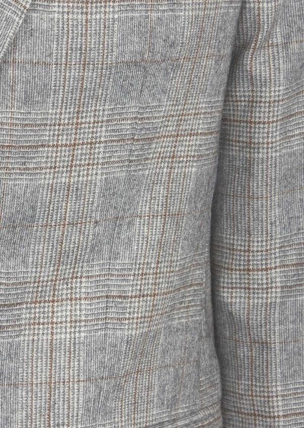 Veste casual Slim en laine mélangée gris clair Prince de Galles - Father and Sons 42507